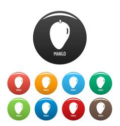 mango icons set color vector image