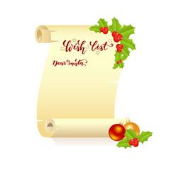 manuscript wish list vector image