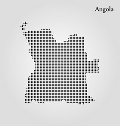 map angola world map vector image