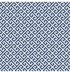 Meander diagonal pattern - greek ornament vector