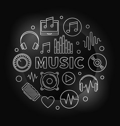 music modern made with outline vector image