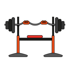 Olympic flat bench vector