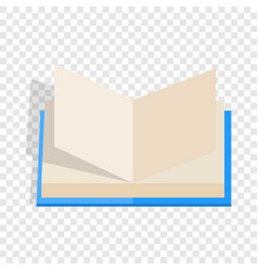 opened book with pages fluttering isometric icon vector image