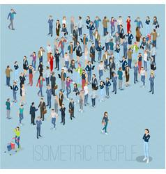 People crowd arrow vector