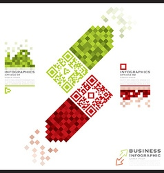 QR Code Business Infographics Banner And vector image