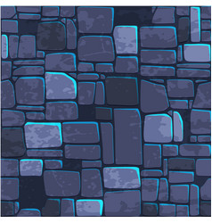 seamless background texture blue stone wall vector image