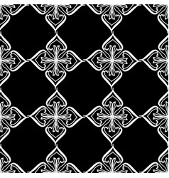 seamless pattern symmetry ornament with a white vector image