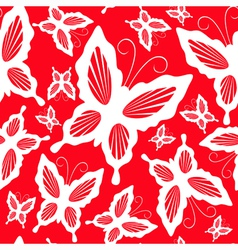 seamless pattern with butterflies 2 vector image