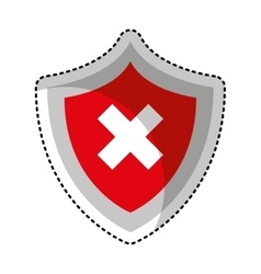 Security shield isolated icon vector
