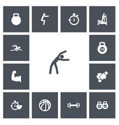 Set of 13 editable lifestyle icons includes vector