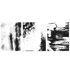 set vintage grunge textures design element vector image
