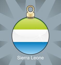 Sierra Leone flag on bulb vector