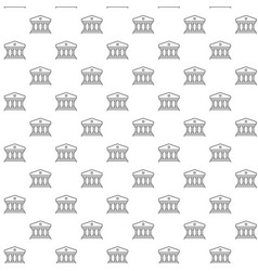 simple building with columns seamless pattern with vector image