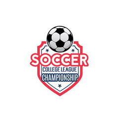 soccer football league championship icon vector image