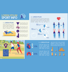 sport activity weight watching infographic set vector image