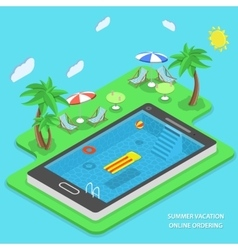 Summer vacation online ordering concept vector image