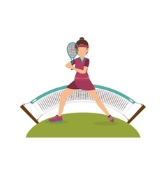 tennis sport player icon vector image