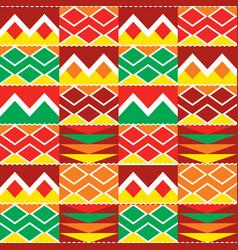 Tribal geometric seamless pattern african kente vector