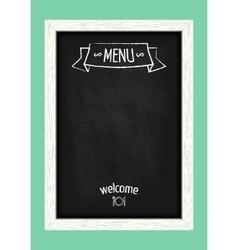 Vertical menu chalkboard for cafes and restaurants vector