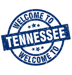 Welcome to tennessee blue stamp vector