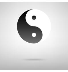 Ying-yang black icon vector