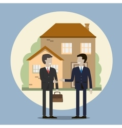 Businessman Buying a House vector image vector image