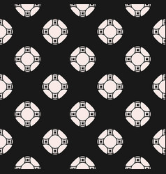 geometric repeat texture with circles vector image vector image