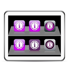Information purple app icons vector image vector image