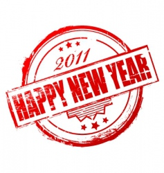 new year 2011 stamp vector image vector image
