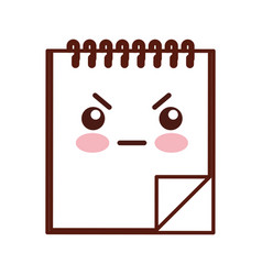 note book kawaii character vector image