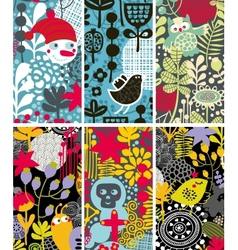 Set of vertical colorful cards vector image