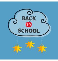Back to school Black cloud contour frame Hanging vector image