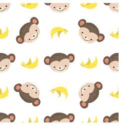 pattern monkey vector image