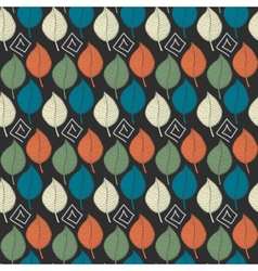 Abstract Color leafs seamless patternRetro color vector image