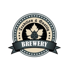 Brewery icon for tradition and quality vector image vector image