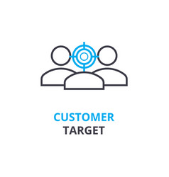customer target concept outline icon linear vector image