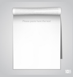 open the vertical paper journal vector image vector image