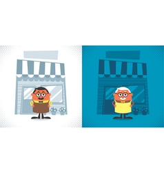 Shopkeeper vector image vector image