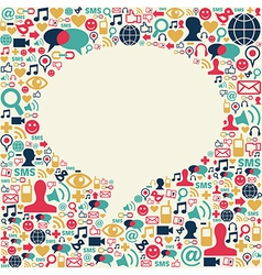 Social media talk bubble texture vector