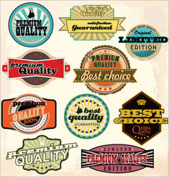 Vintage Labels Collection - Best Quality vector image vector image