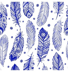 Beautiful Feather pattern seamless vector image