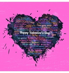 Black heart on Valentines Day vector image