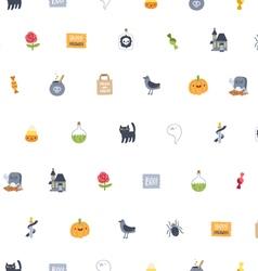Halloween super seamless pattern vector image vector image