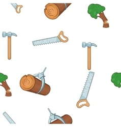 Woodworking pattern cartoon style vector image