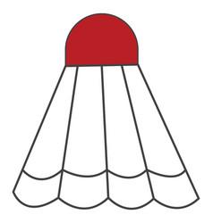 A cartoon shuttlecock or color vector