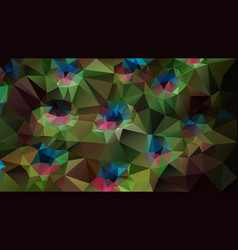Abstract irregular polygonal background peacock vector