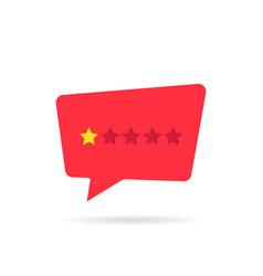 abstract rating star like negative feedback vector image