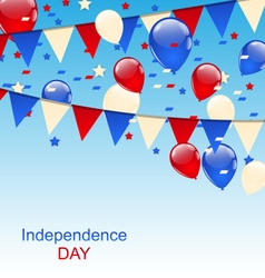 American Greeting Card with Balloons and Bunting vector image