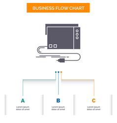 Audio card external interface sound business flow vector