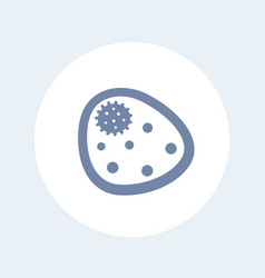 bacterium icon isolated on white vector image